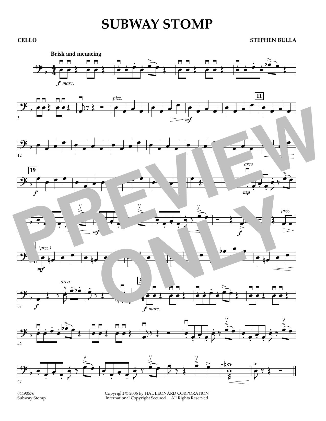 Subway Stomp - Cello (Orchestra)