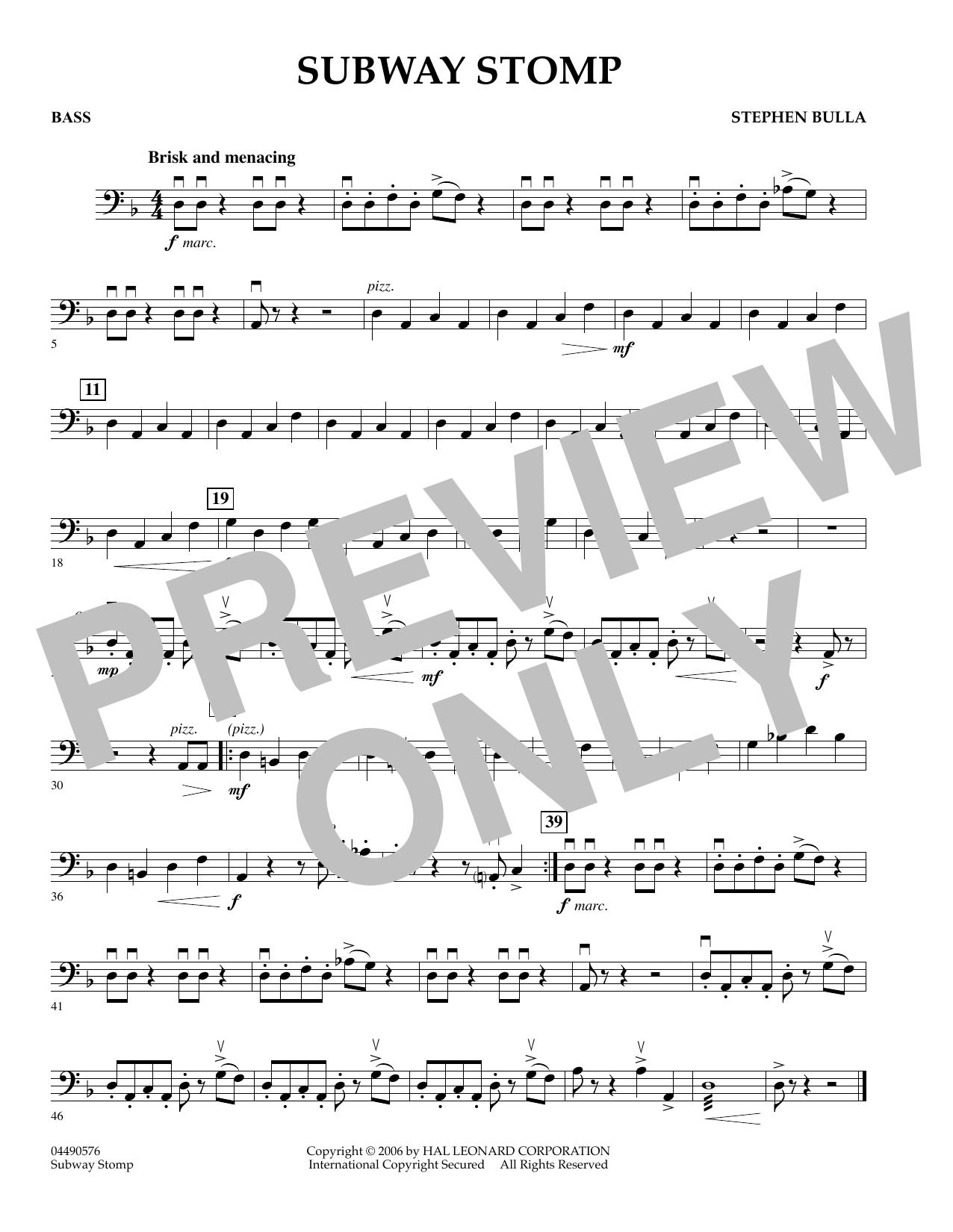 Subway Stomp - Bass (Orchestra)