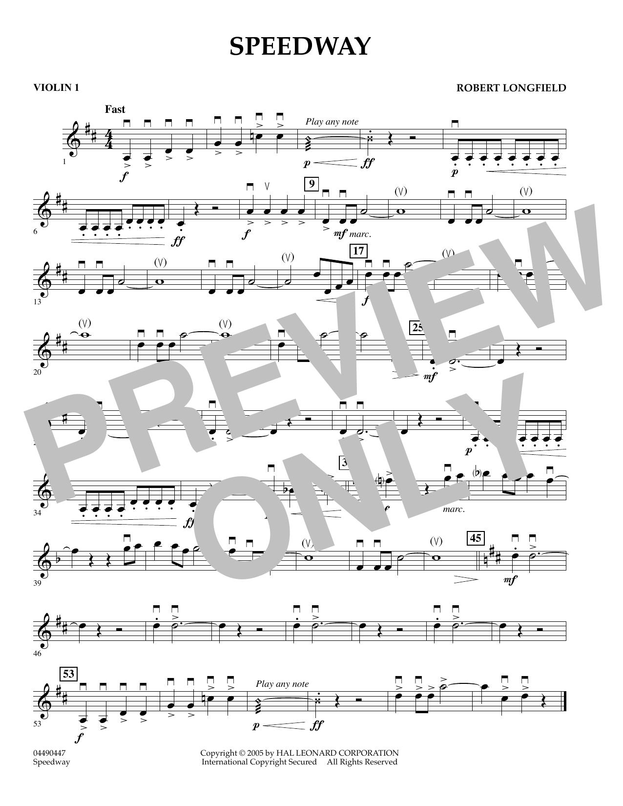 Speedway - Violin 1 (Orchestra)