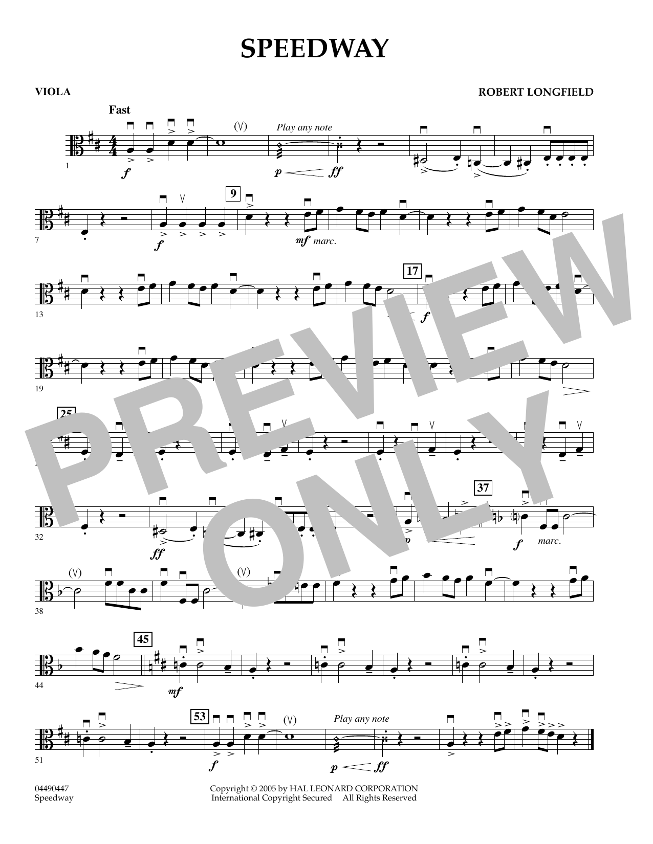 Speedway - Viola (Orchestra)