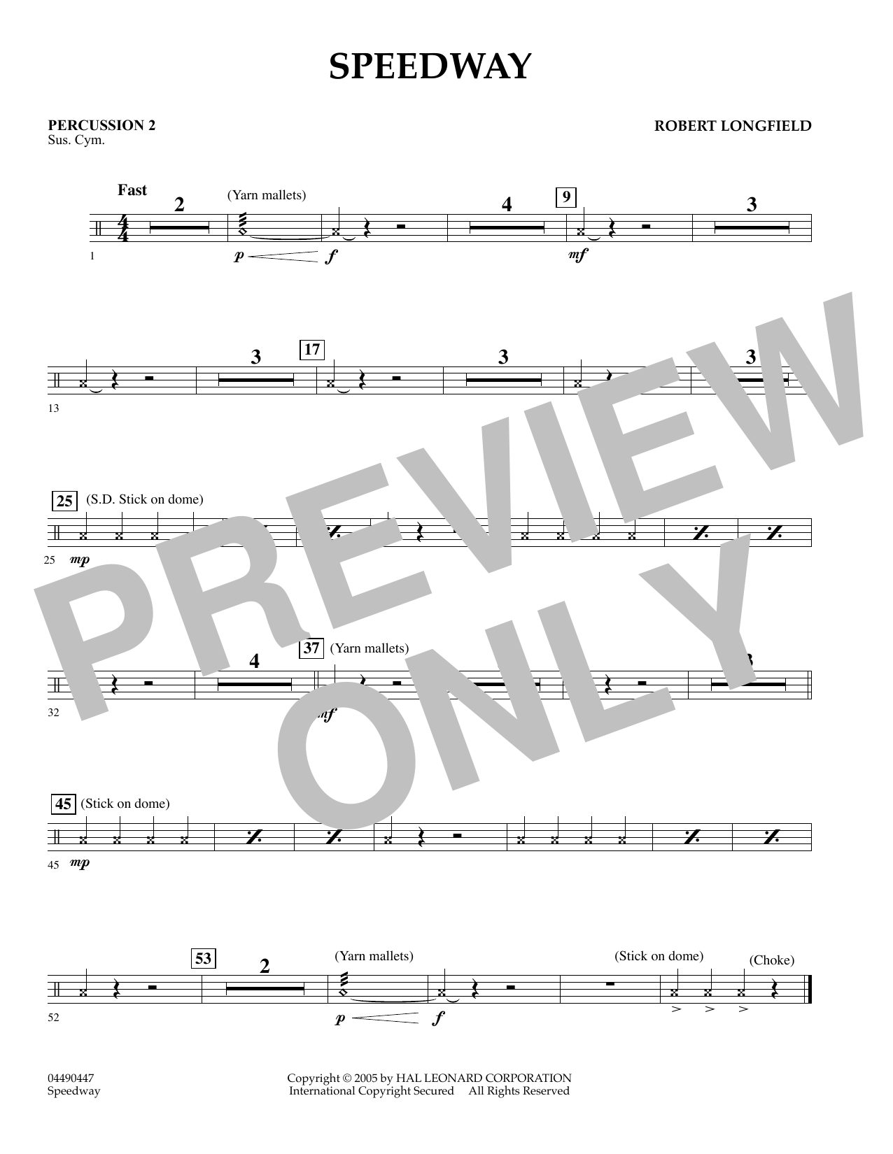 Speedway - Piano (Orchestra)