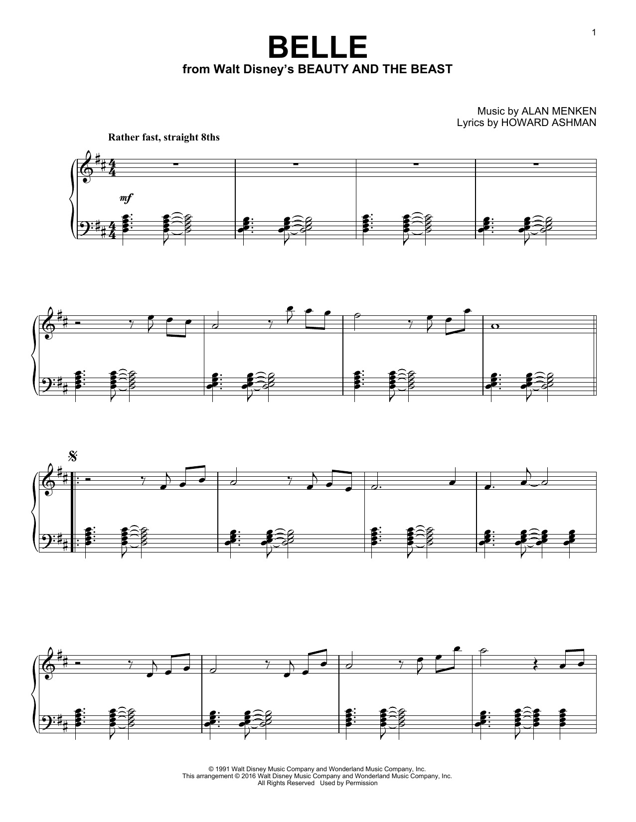 Belle Sheet Music