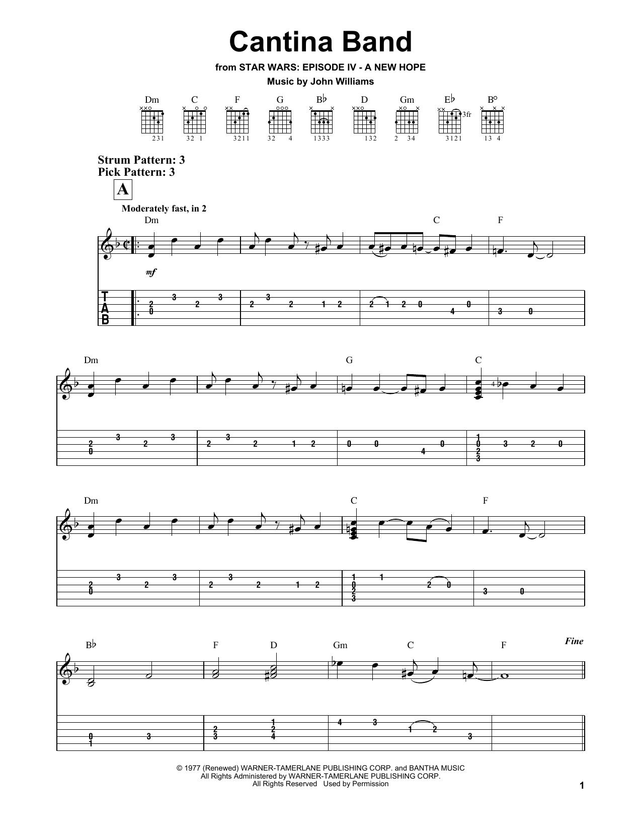 Cantina Band Sheet Music