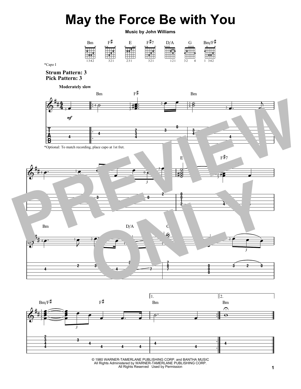 May The Force Be With You Sheet Music