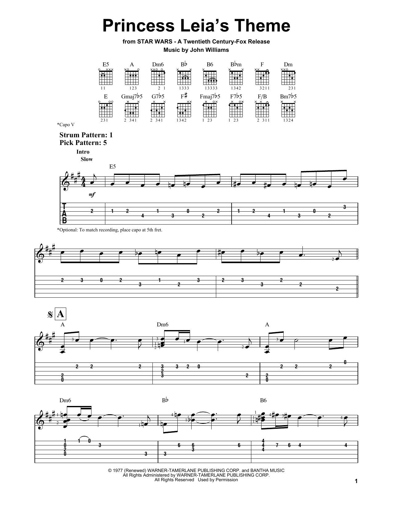 Princess Leia's Theme Sheet Music