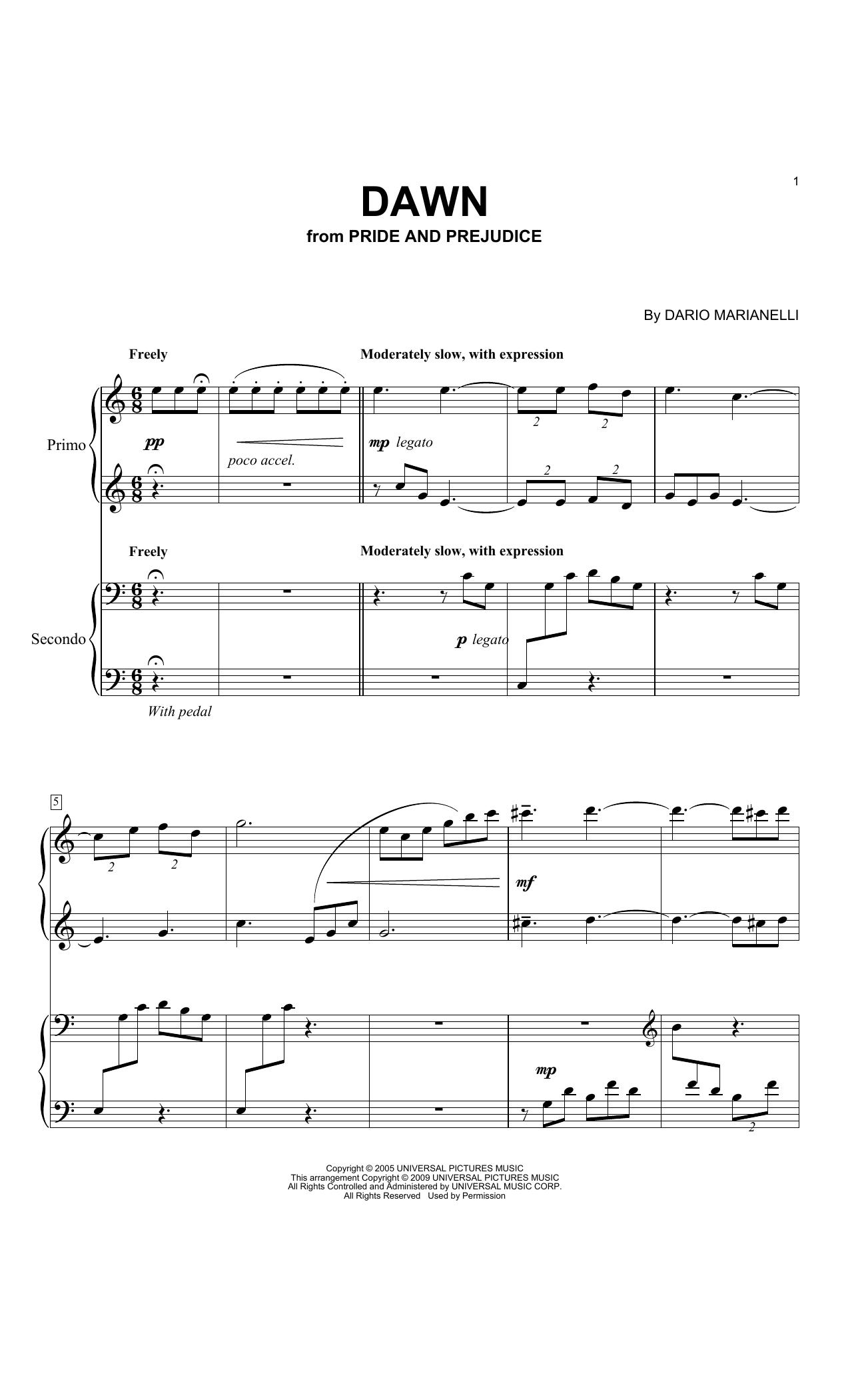 Dawn Sheet Music