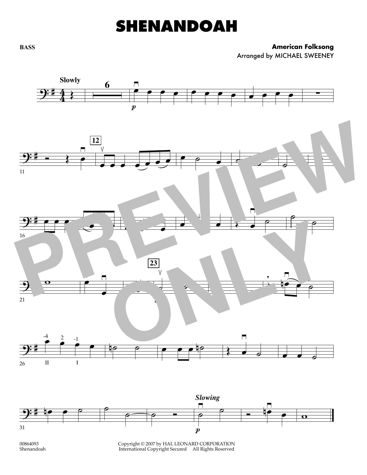 Shenandoah - Bass (Orchestra)
