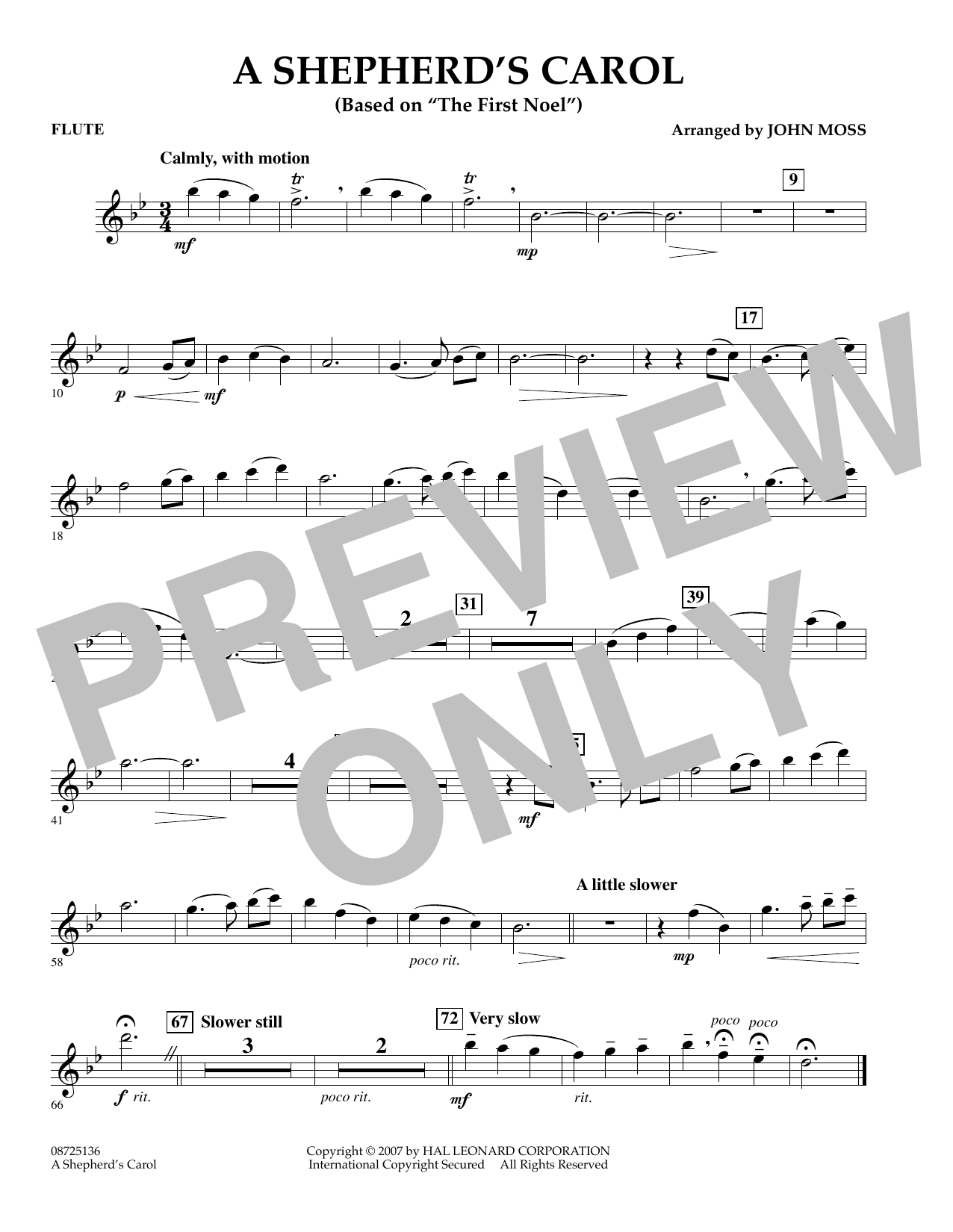 A Shepherd's Carol (Based On The First Noel) - Flute (Concert Band)