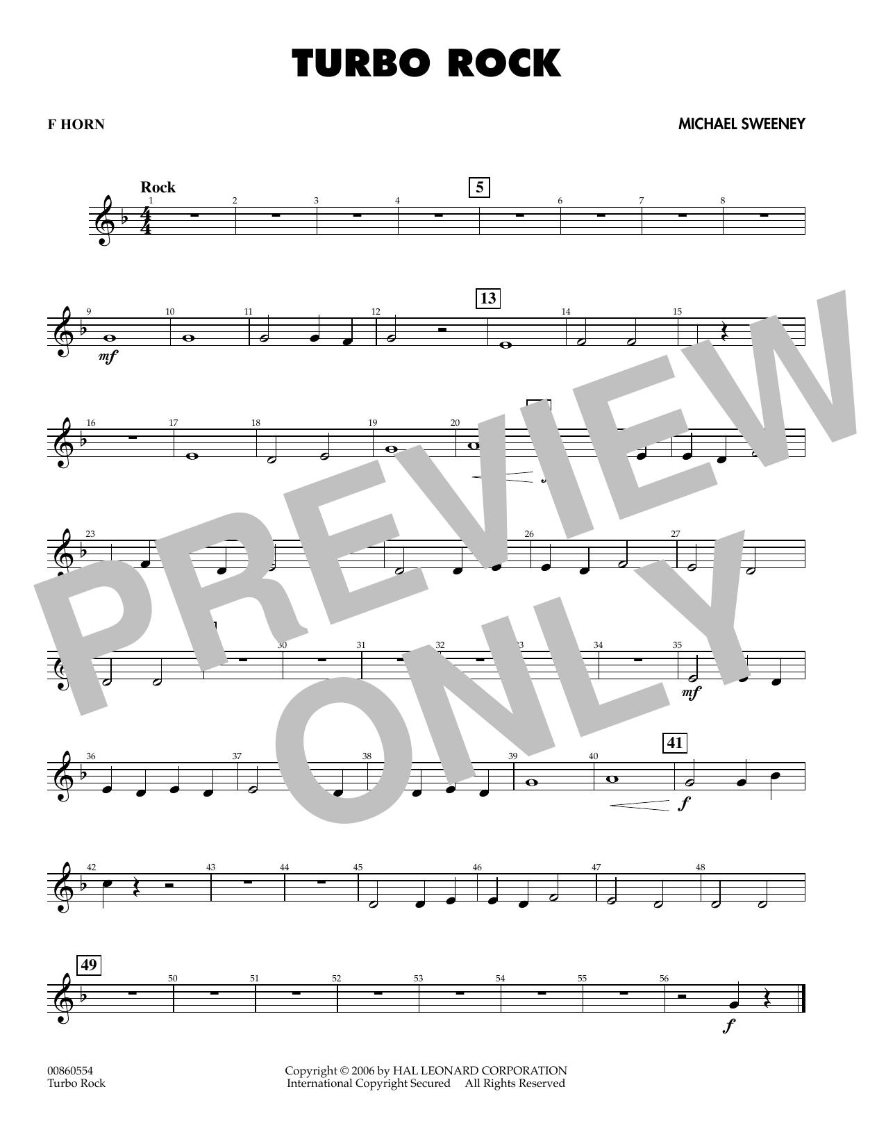 Turbo Rock - Score & Parts by Michael Sweeney