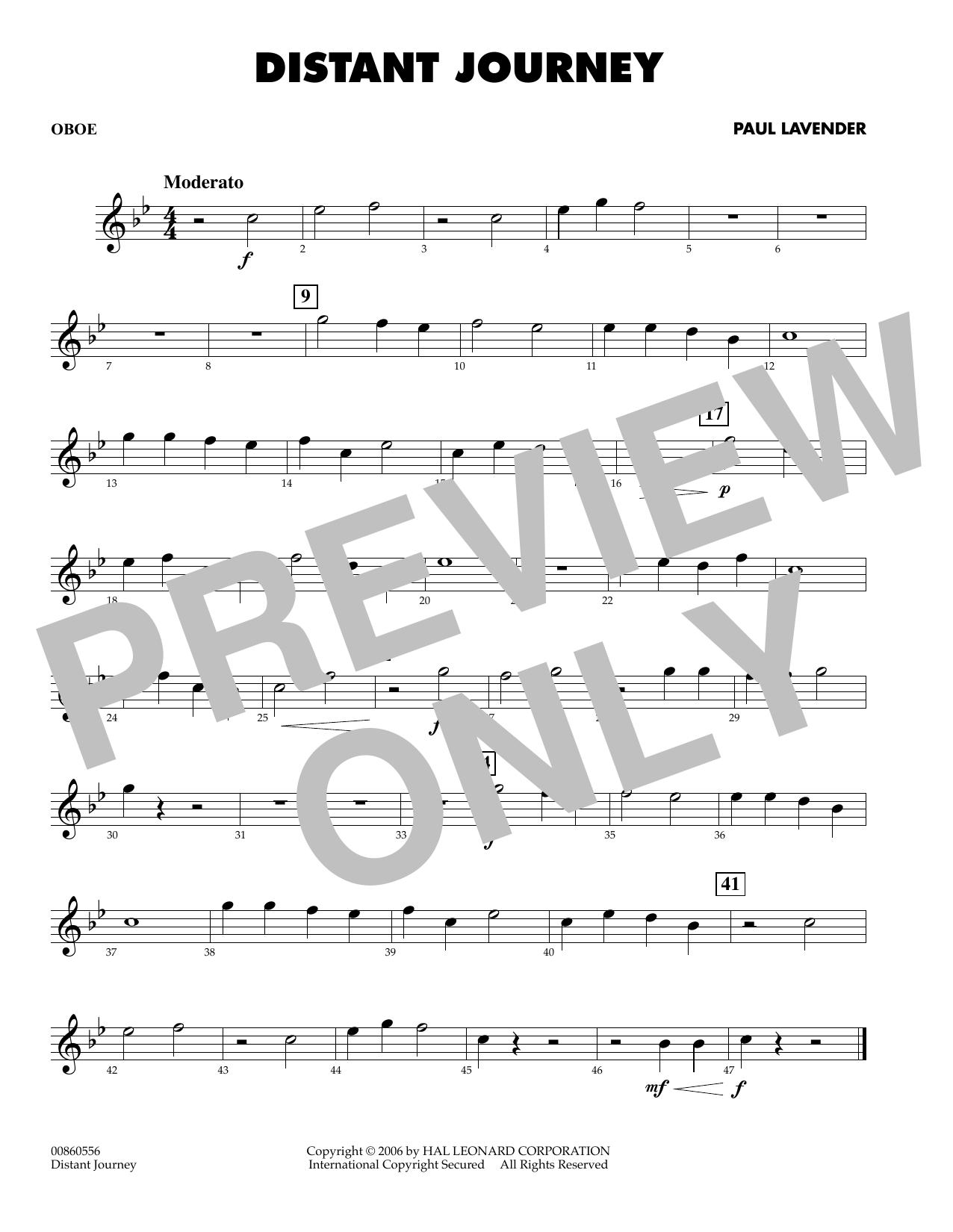 Distant Journey - Oboe (Concert Band)