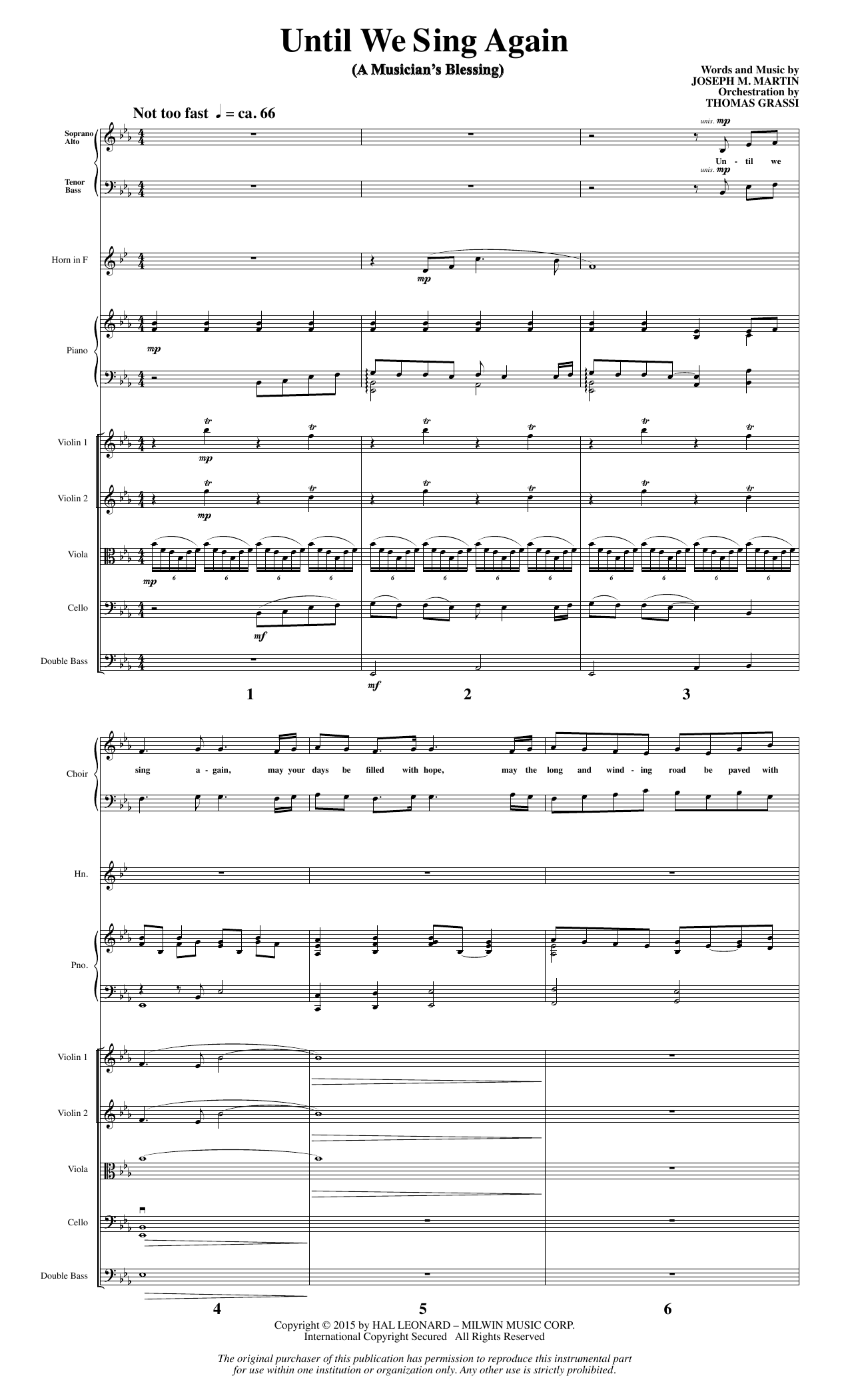 Until We Sing Again - Full Score (Choir Instrumental Pak)