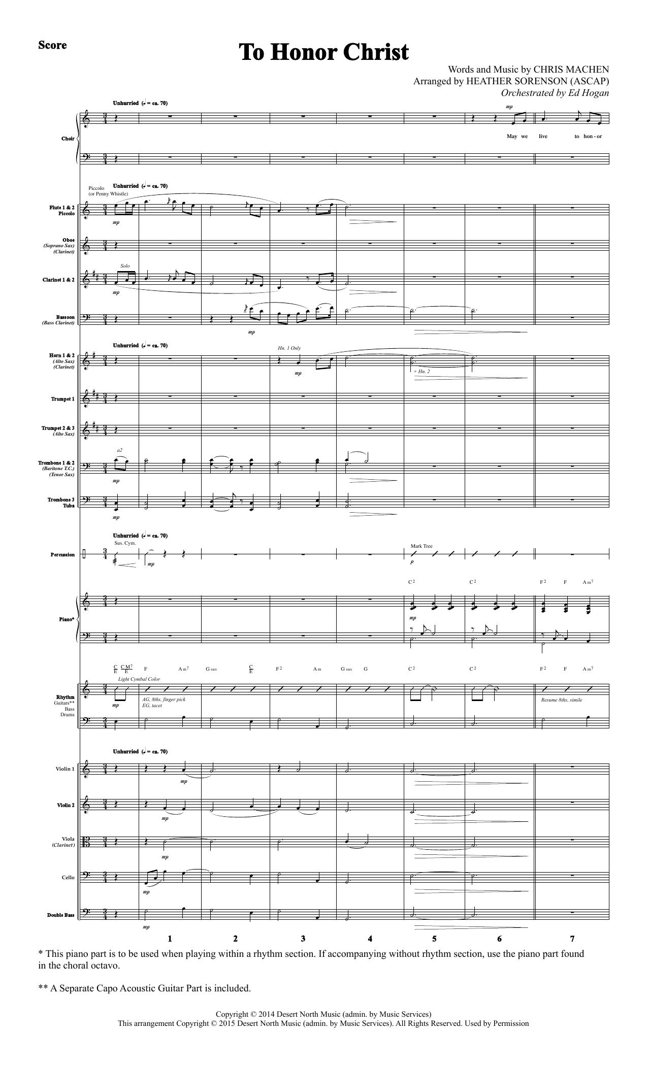 To Honor Christ - Full Score Sheet Music