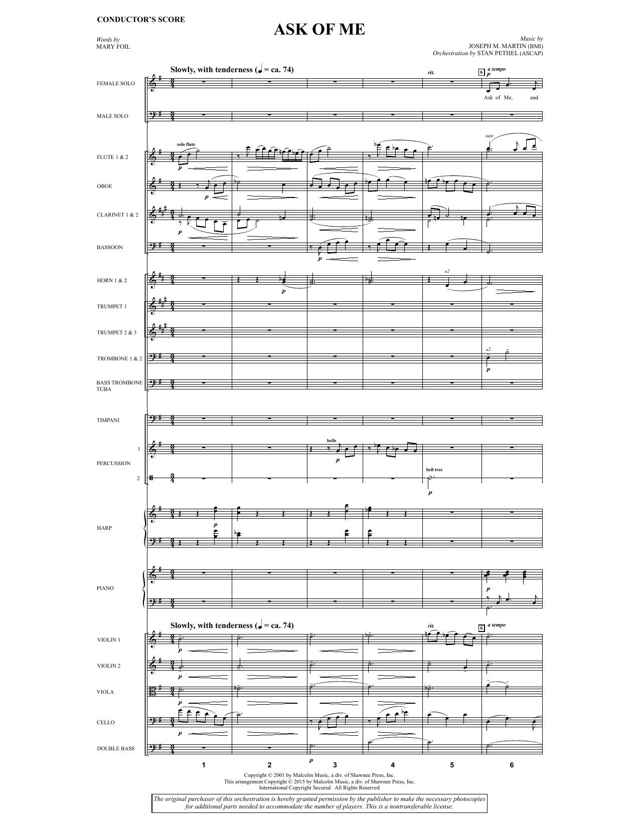 Ask of Me - Full Score Sheet Music