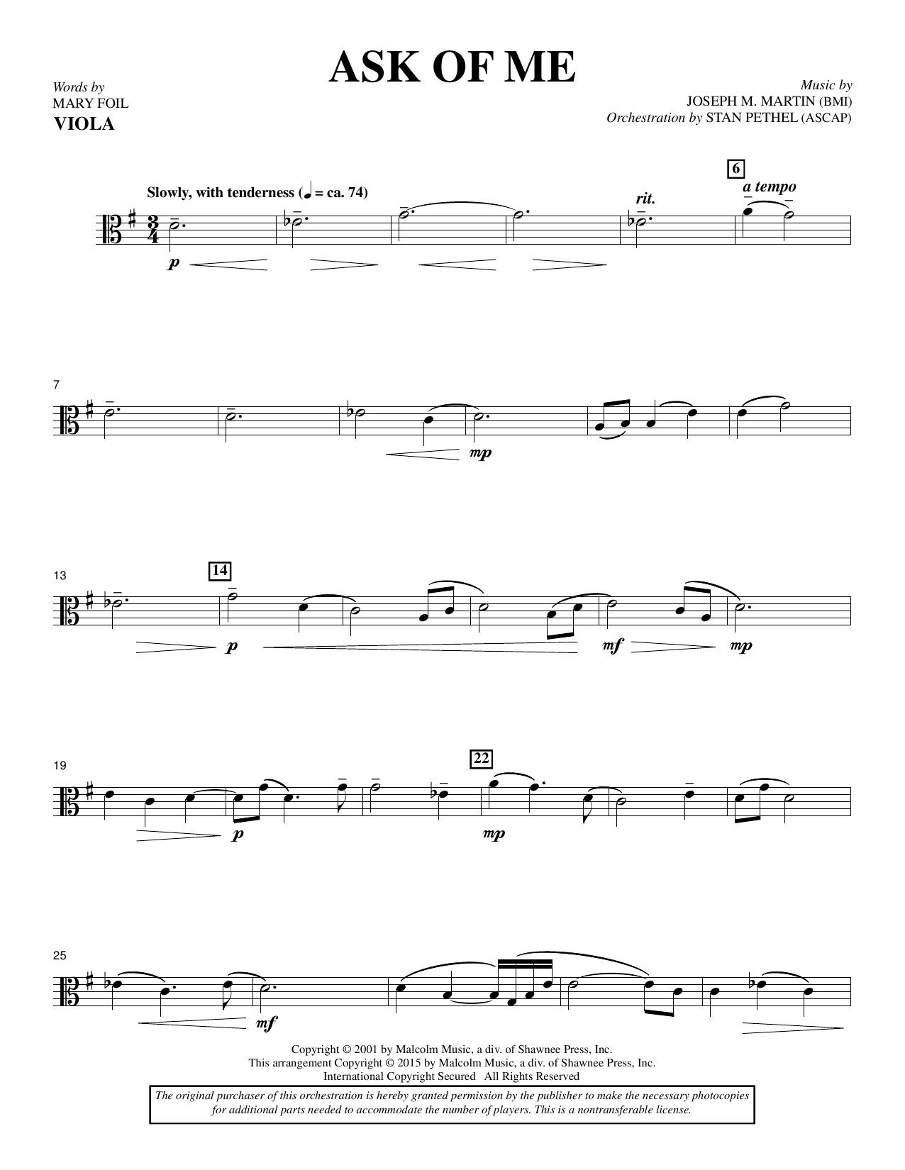 Ask of Me - Viola (Choir Instrumental Pak)