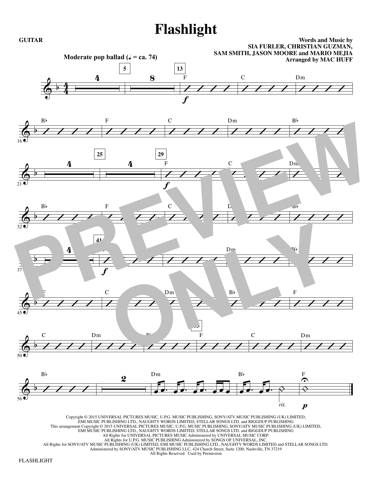 Flashlight - Guitar (Choir Instrumental Pak)