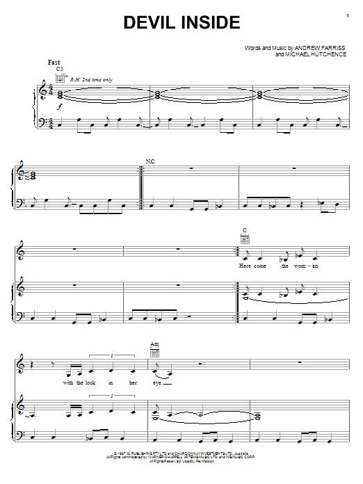 Devil Inside Sheet Music