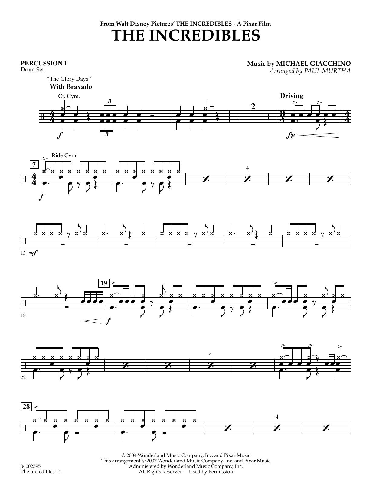 The Incredibles - Percussion 1 (Concert Band)