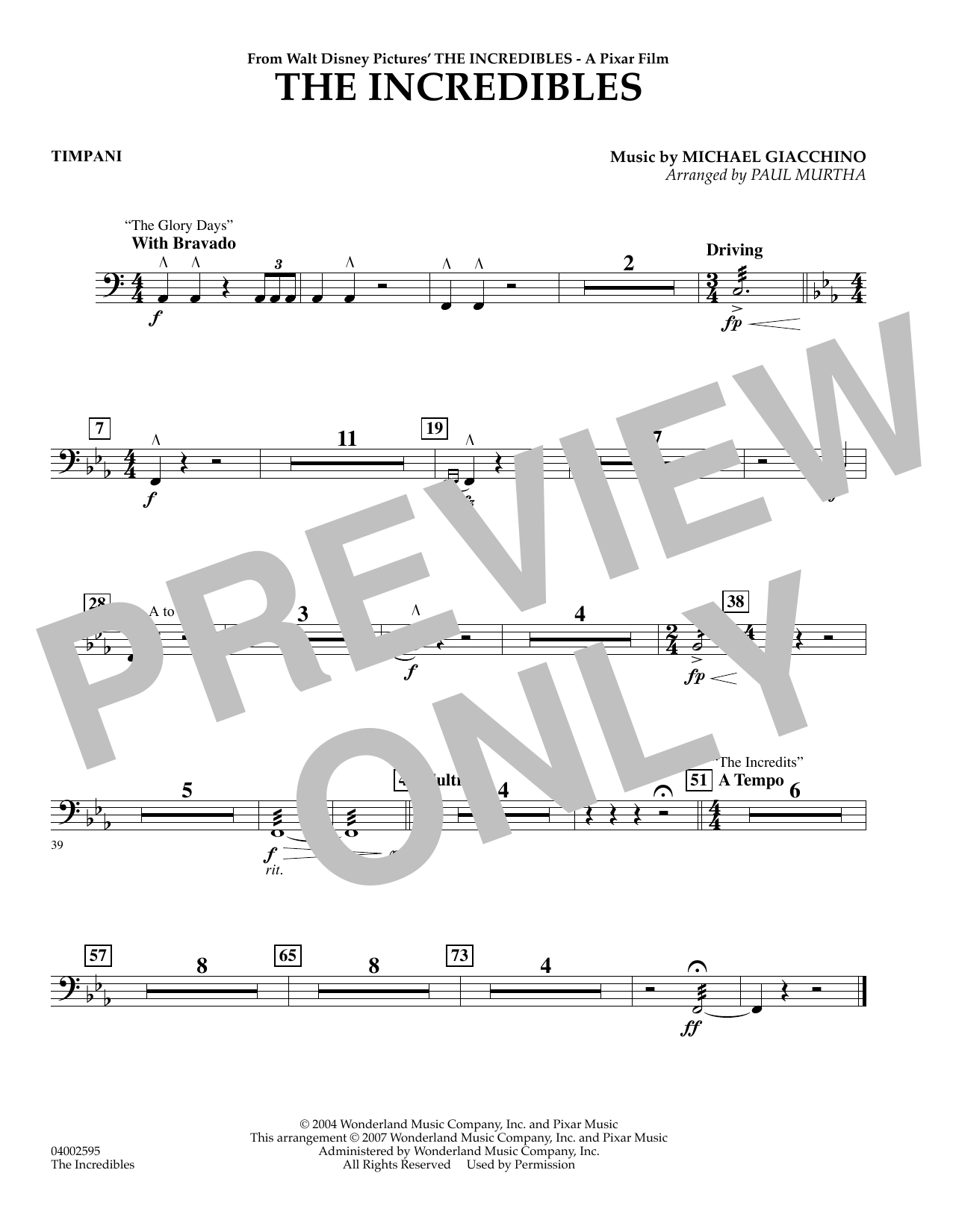 The Incredibles - Timpani (Flex-Band)
