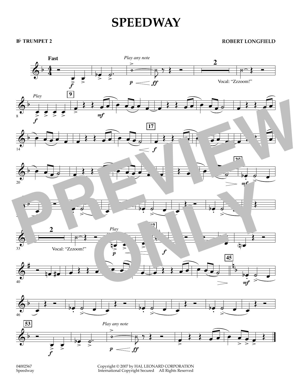 Speedway - Bb Trumpet 2 (Concert Band)