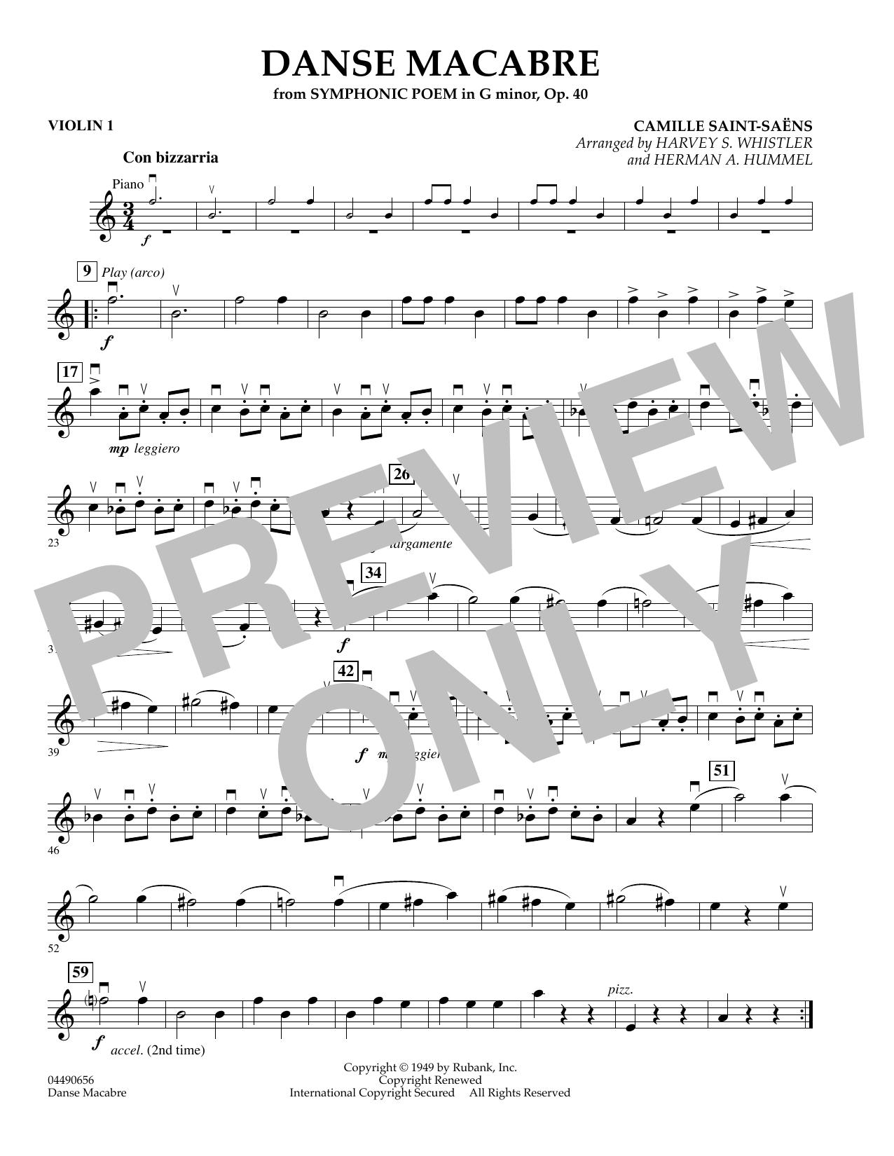 Danse Macabre - Violin 1 (Orchestra)