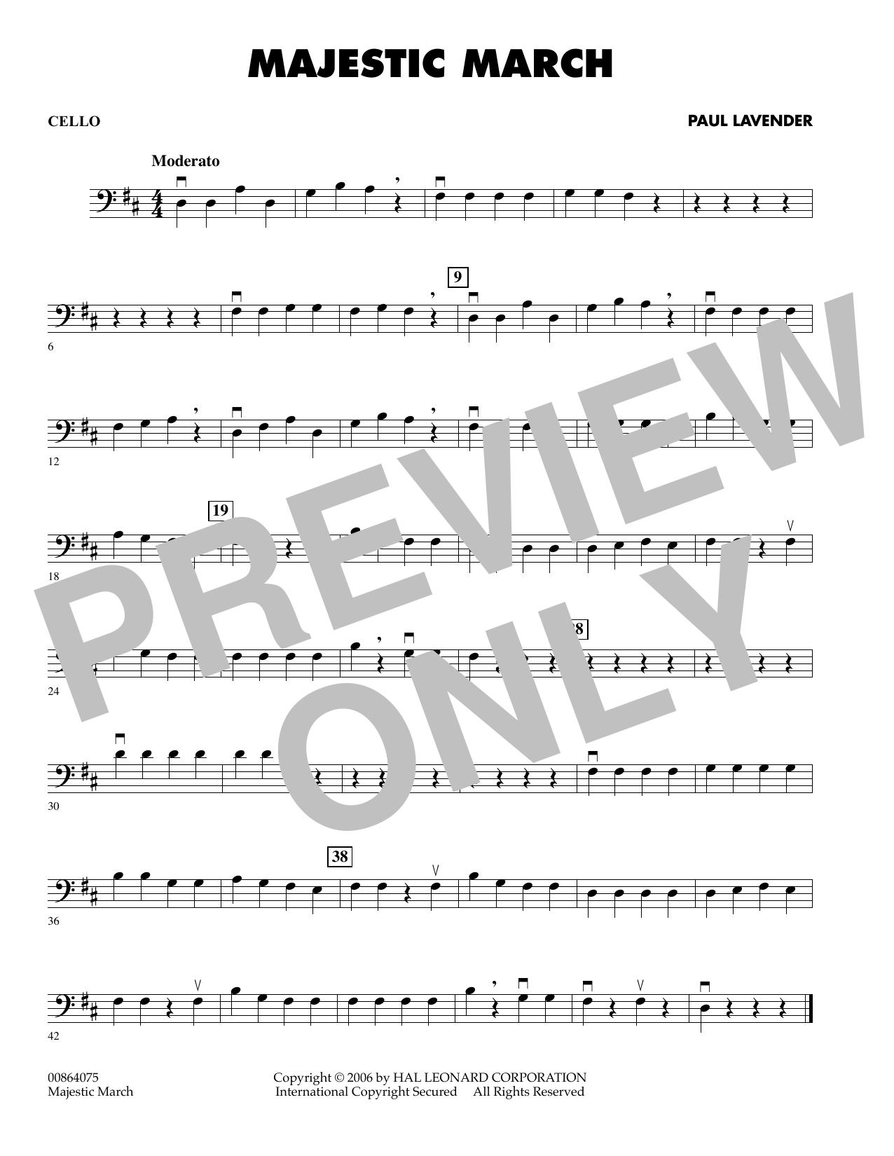 Majestic March - Cello (Orchestra)