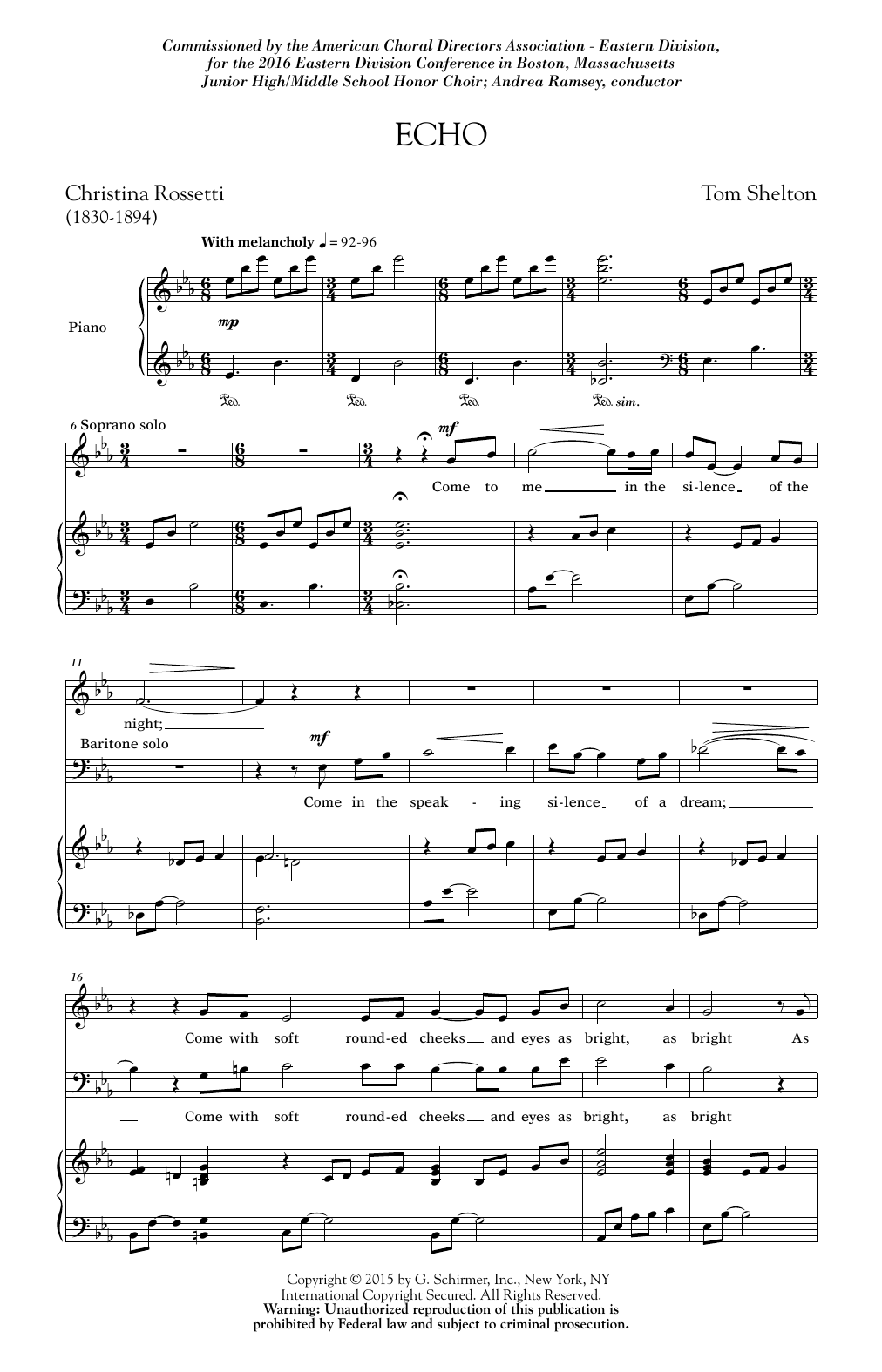 Echo Sheet Music
