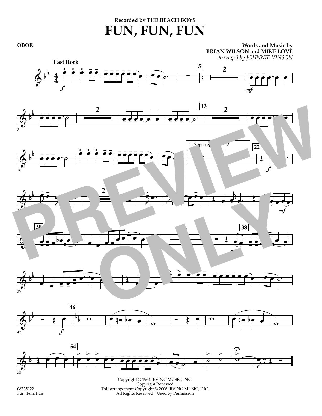 Fun, Fun, Fun - Oboe (Concert Band)