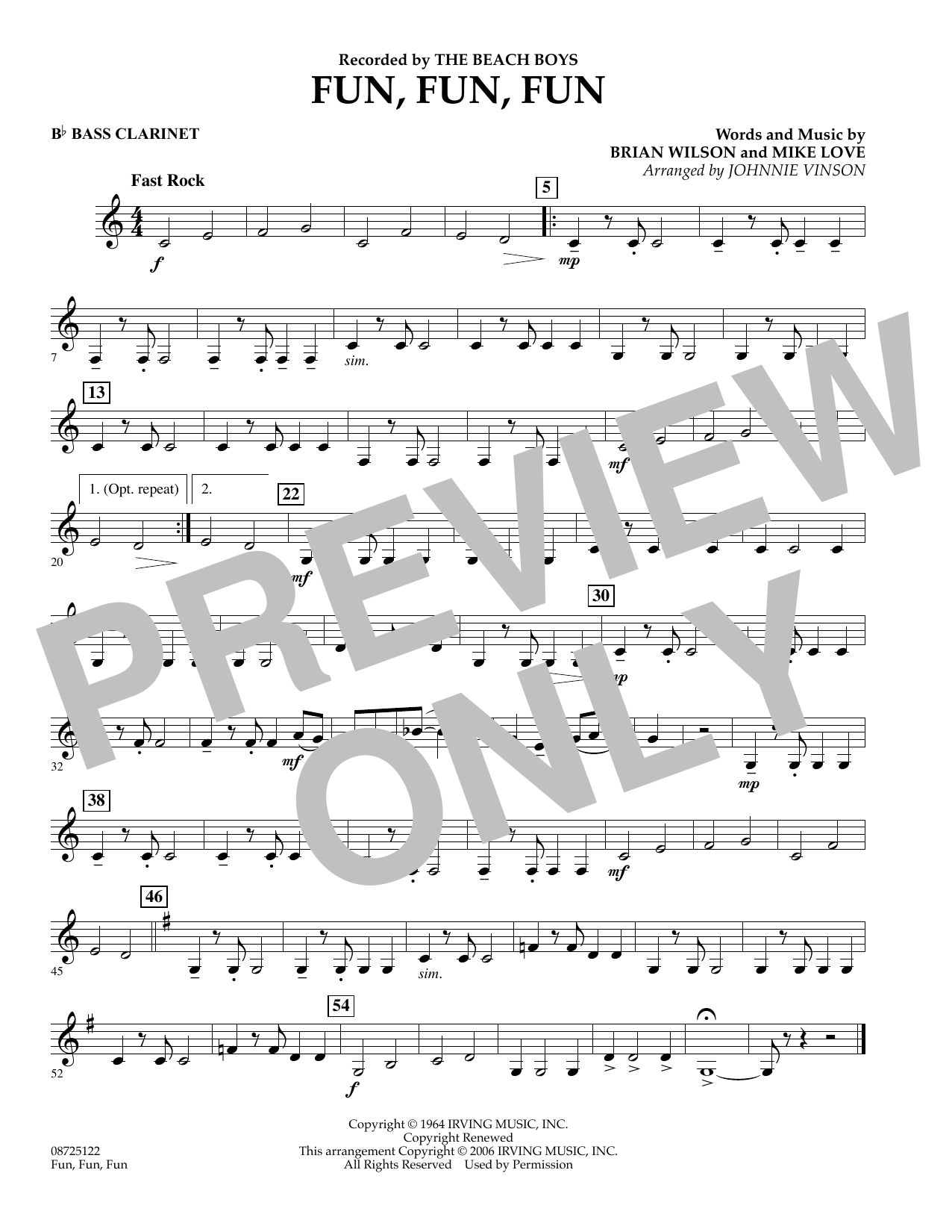 Fun, Fun, Fun - Bb Bass Clarinet (Concert Band)