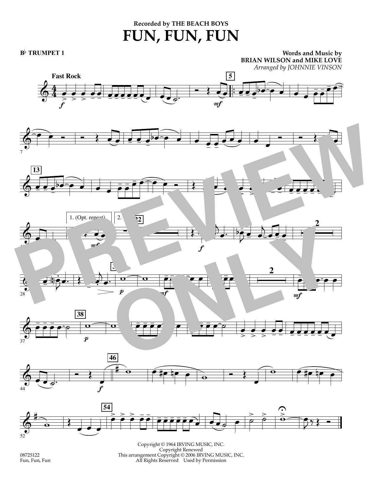 Fun, Fun, Fun - Bb Trumpet 1 (Concert Band)
