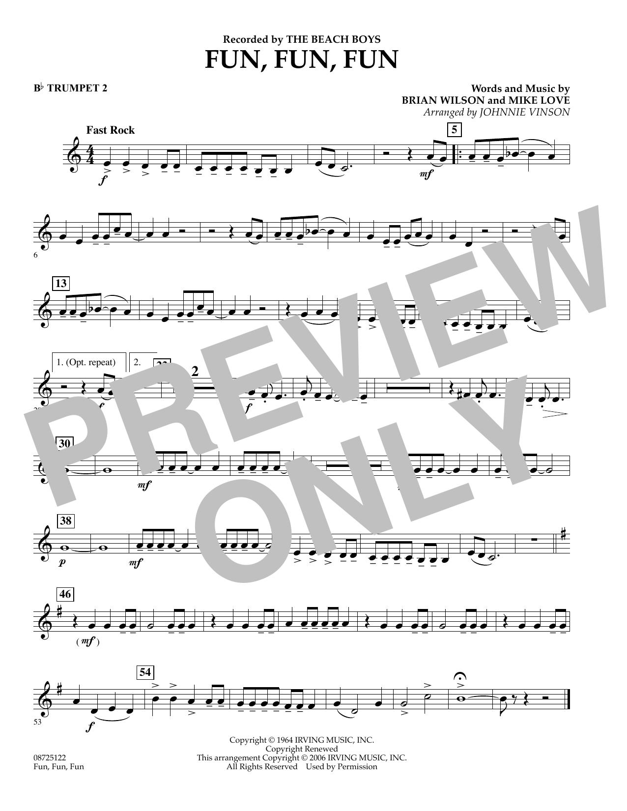 Fun, Fun, Fun - Bb Trumpet 2 (Concert Band)