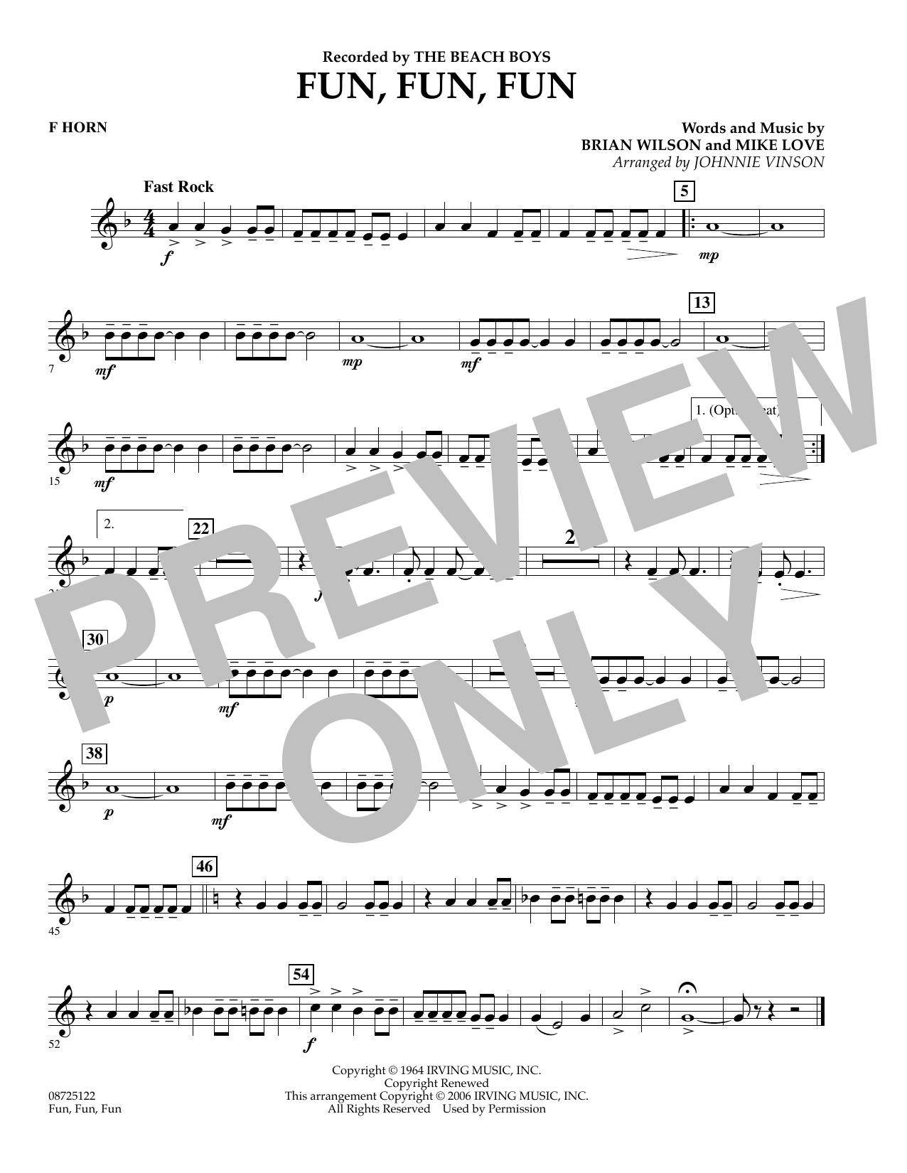 Fun, Fun, Fun - F Horn (Concert Band)