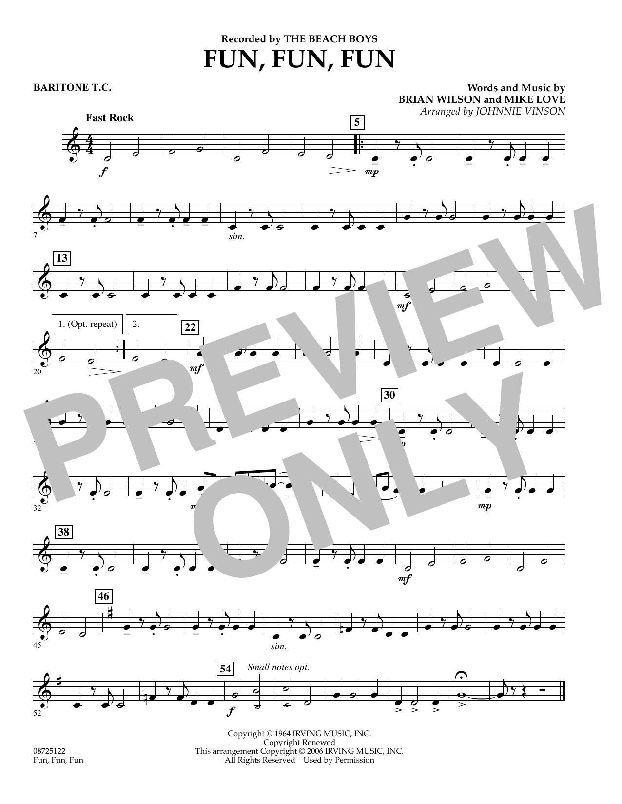 Fun, Fun, Fun - Baritone T.C. (Concert Band)