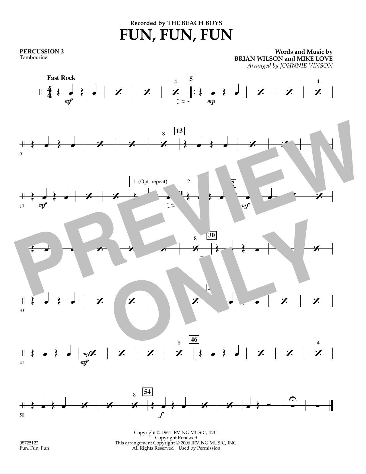 Fun, Fun, Fun - Percussion 2 (Concert Band)