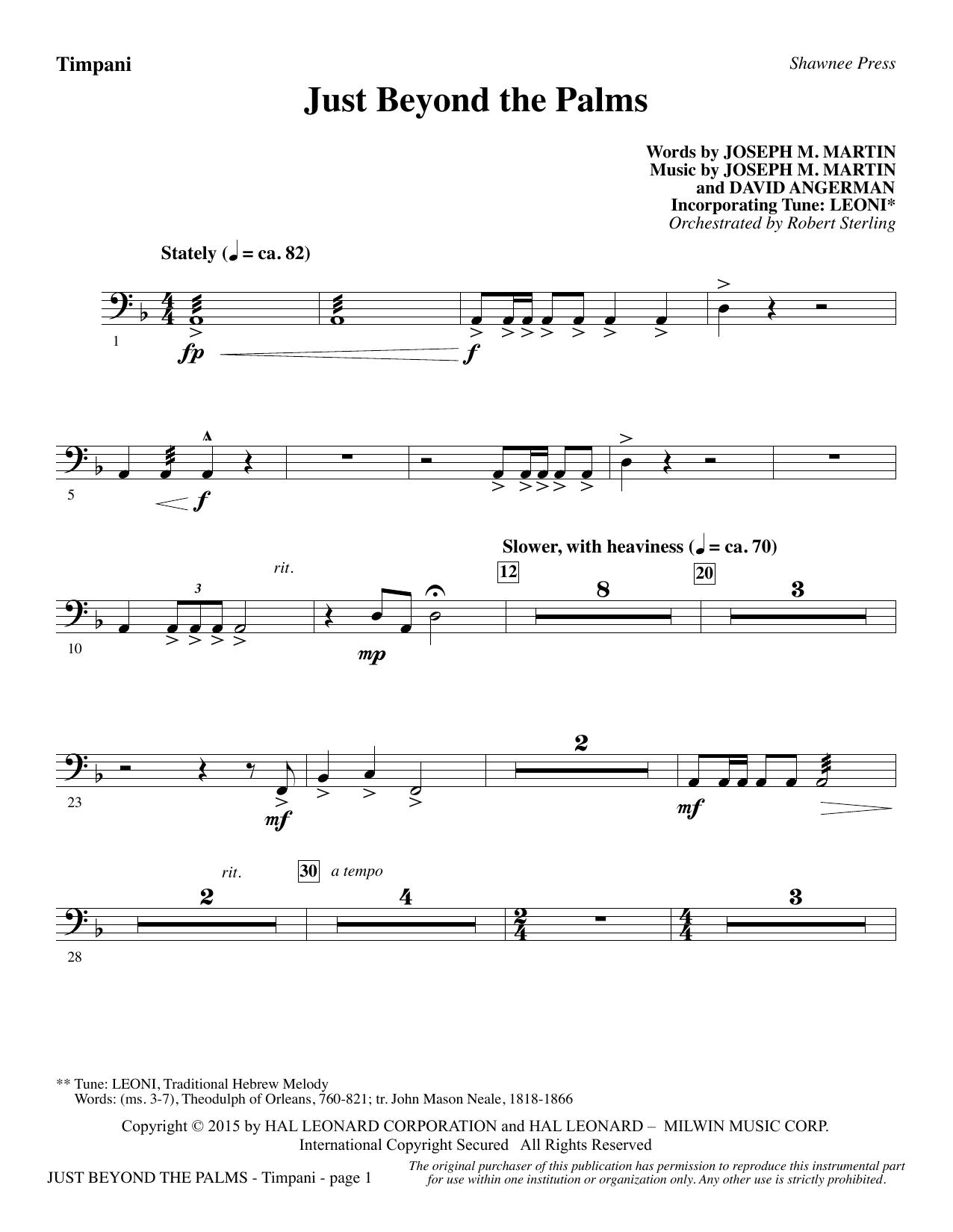 Just Beyond the Palms - Timpani (Choir Instrumental Pak)