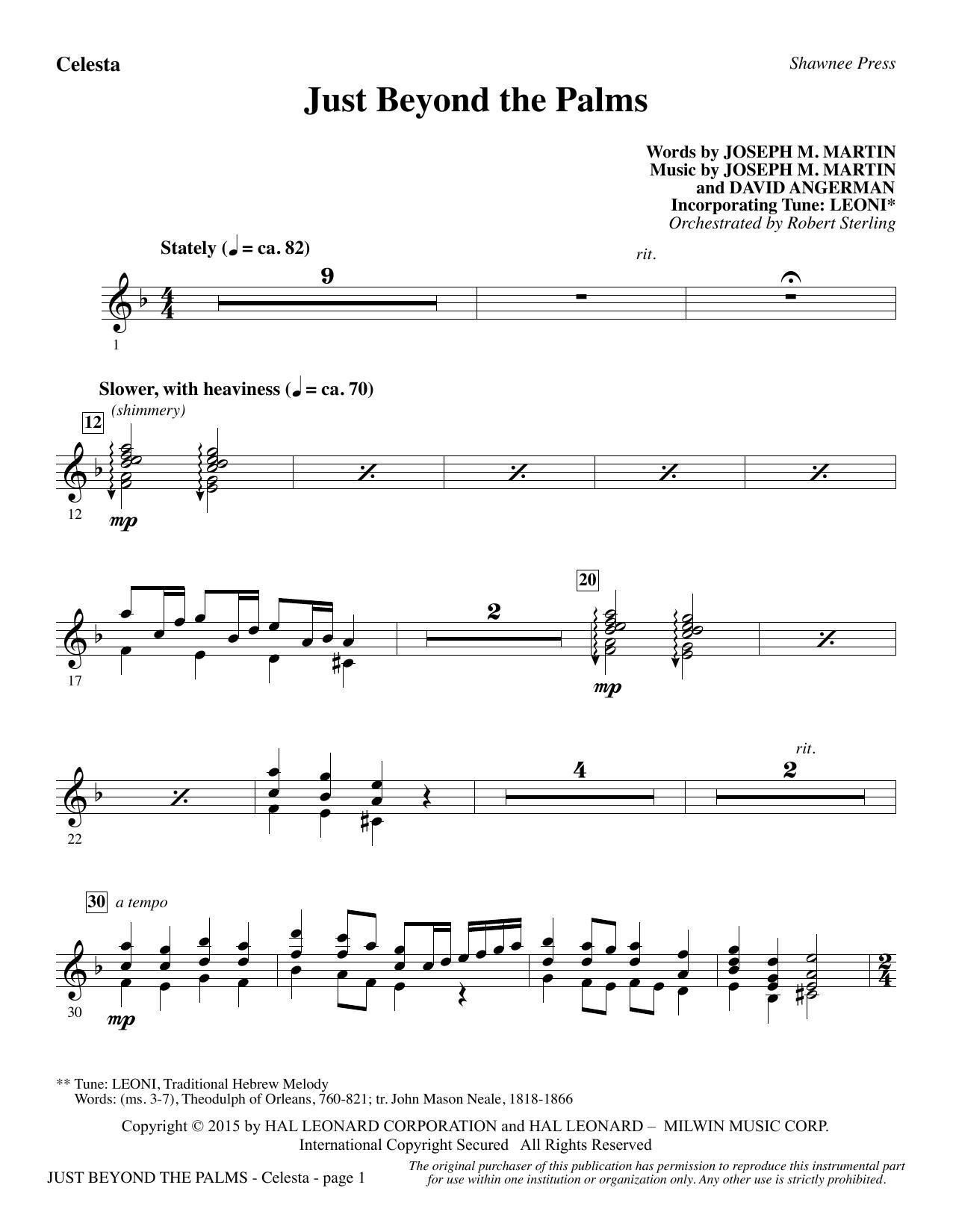 Just Beyond the Palms - Celesta (Choir Instrumental Pak)