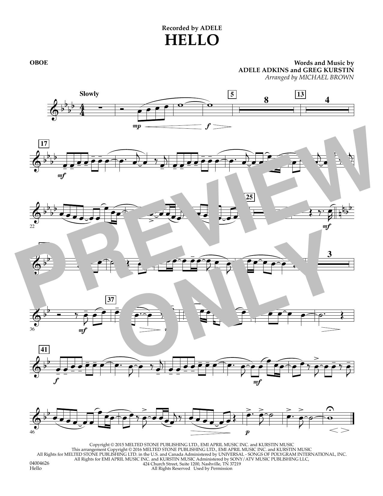 Hello - Oboe (Concert Band)