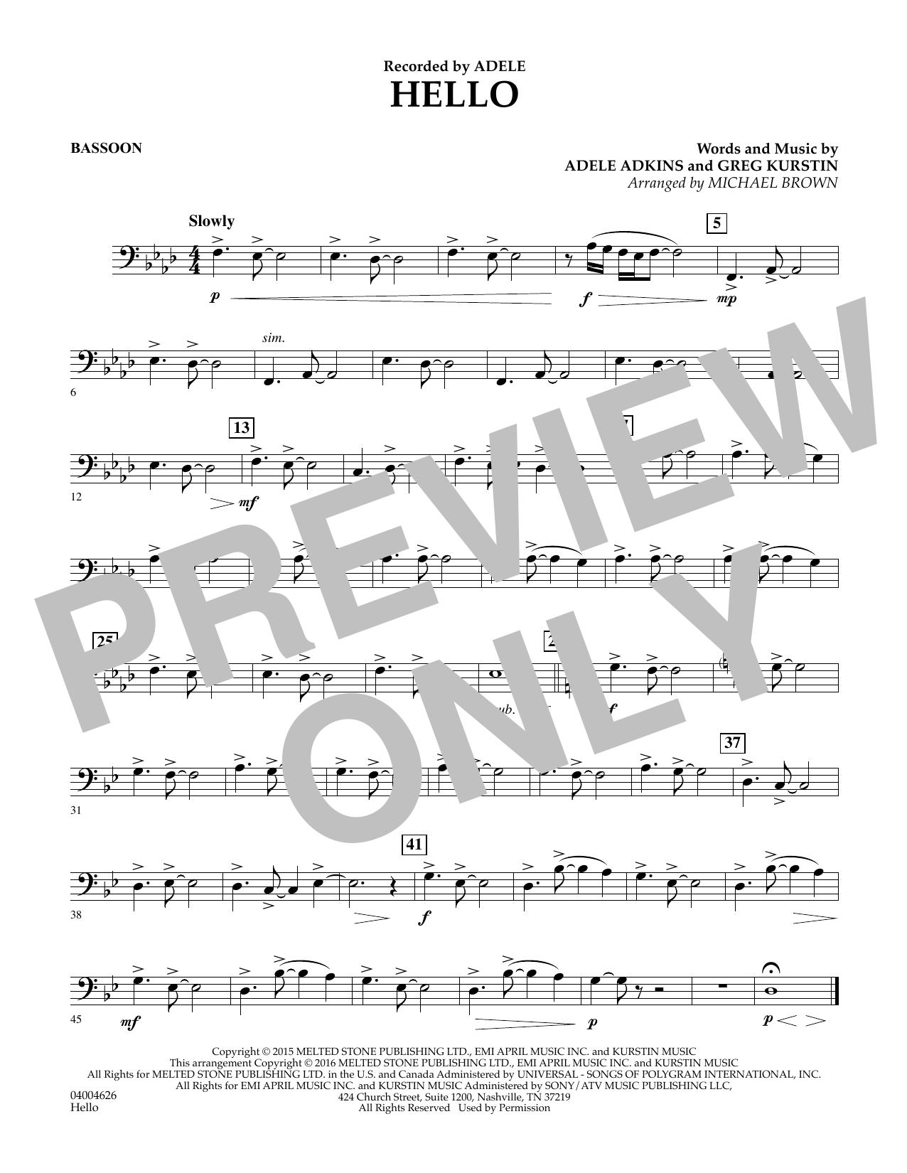 Hello - Bassoon (Concert Band)