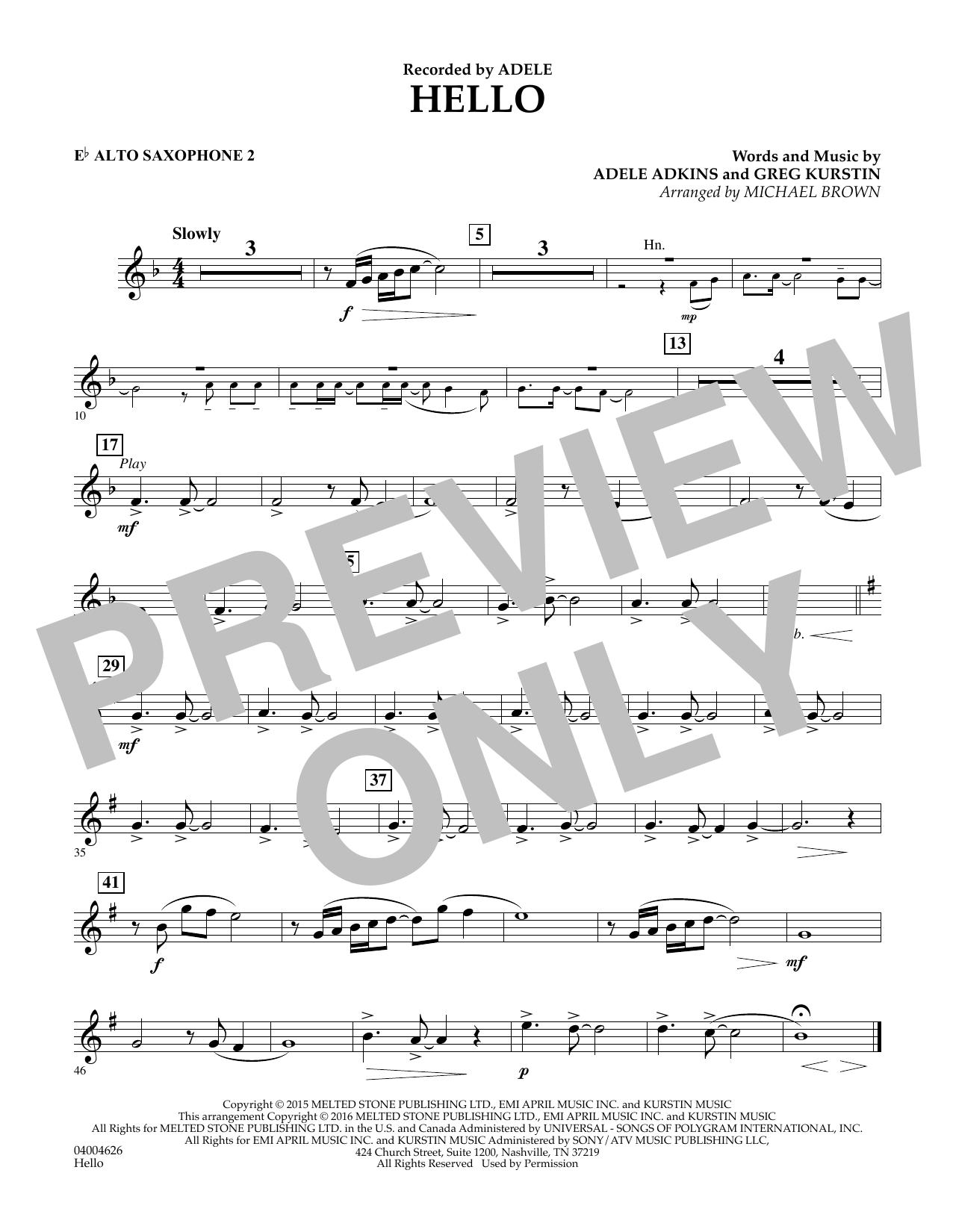 Hello - Eb Alto Saxophone 2 (Concert Band)