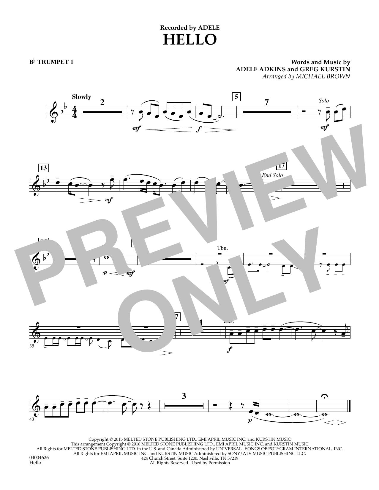 Hello - Bb Trumpet 1 (Concert Band)