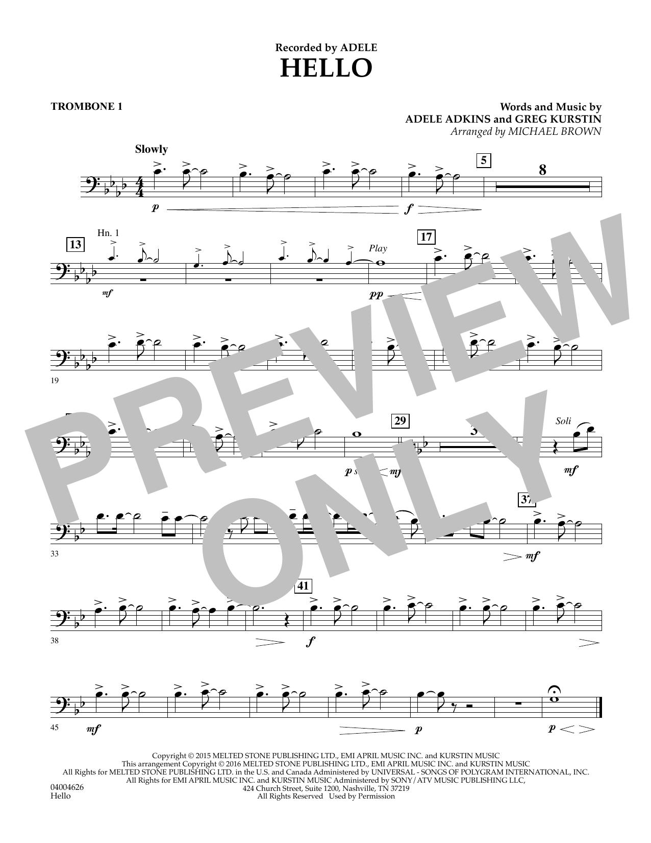 Hello - Trombone 1 (Concert Band)