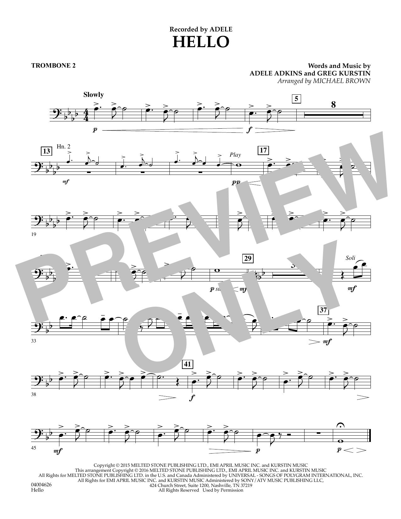 Hello - Trombone 2 (Concert Band)