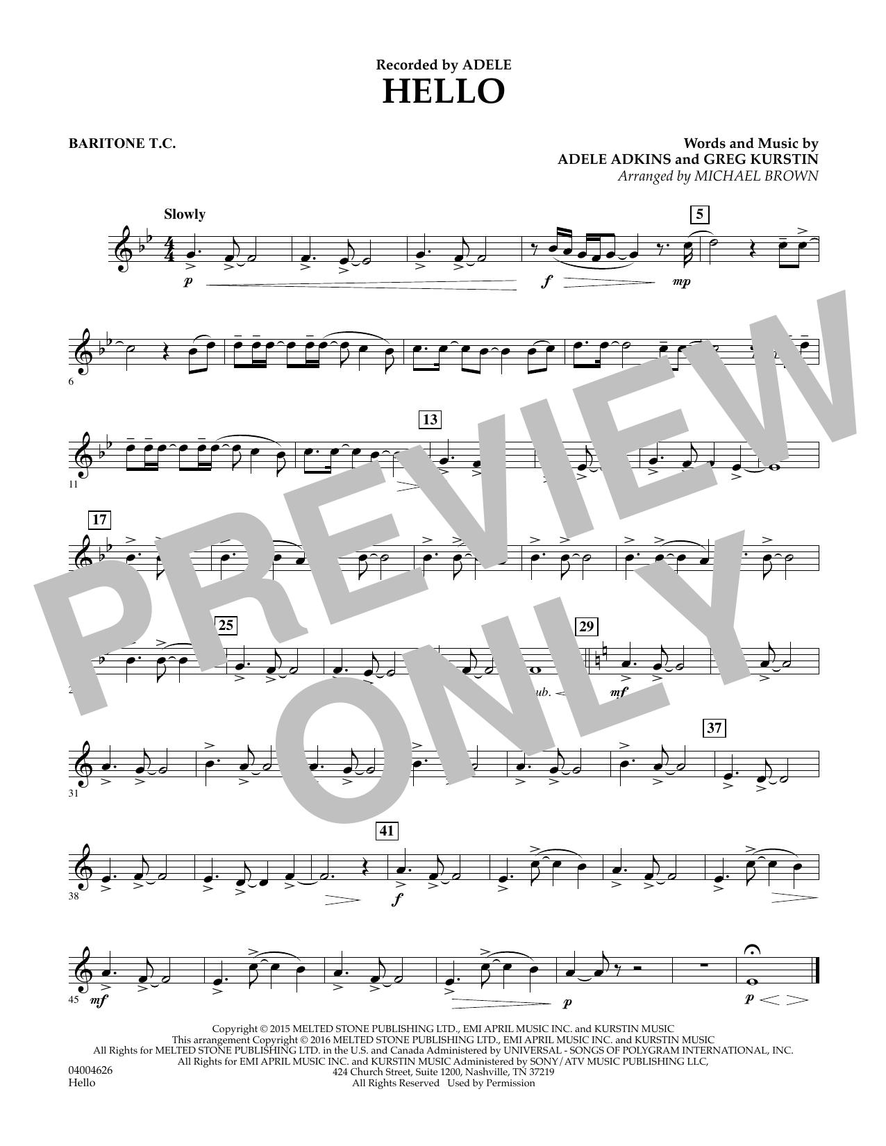 Hello - Baritone T.C. (Concert Band)