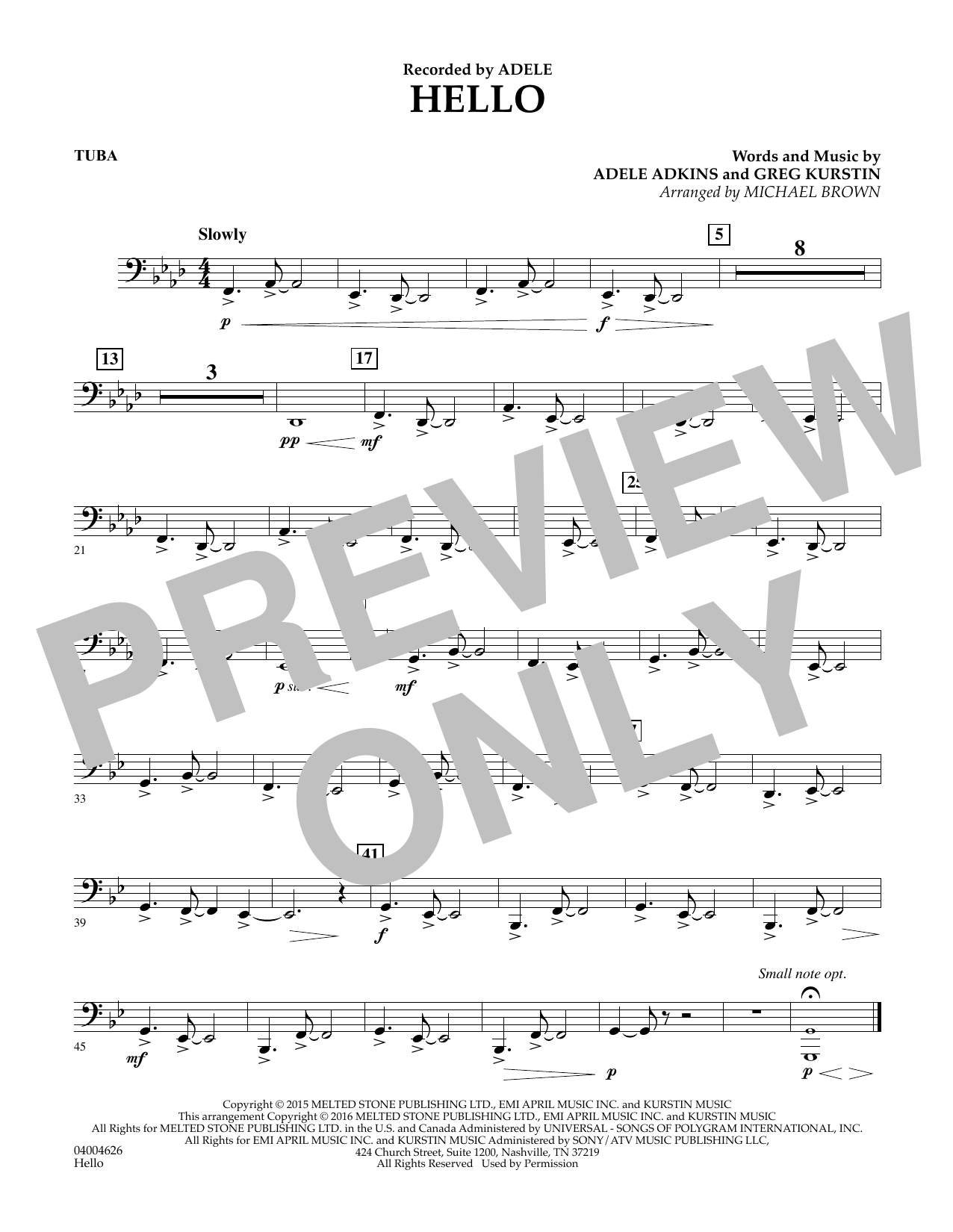 Hello - Tuba (Concert Band)