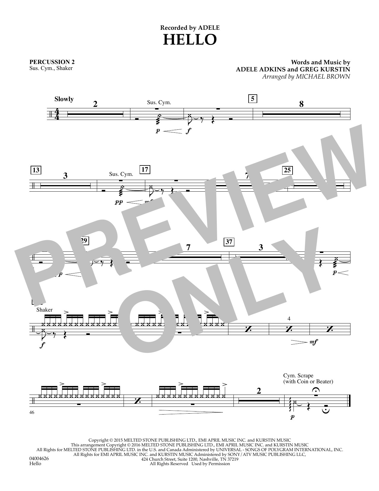 Hello - Percussion 2 (Concert Band)