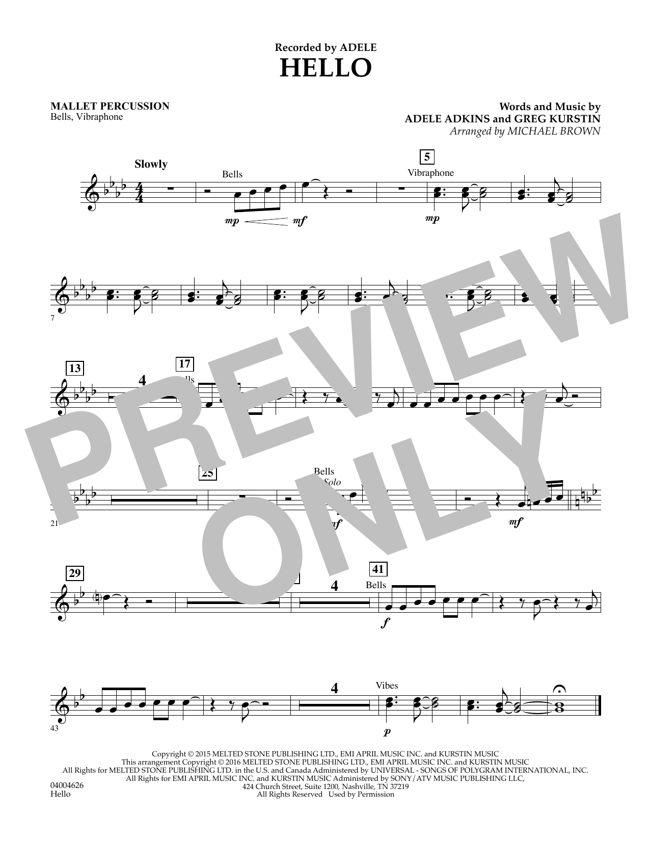 Hello - Mallet Percussion (Concert Band)