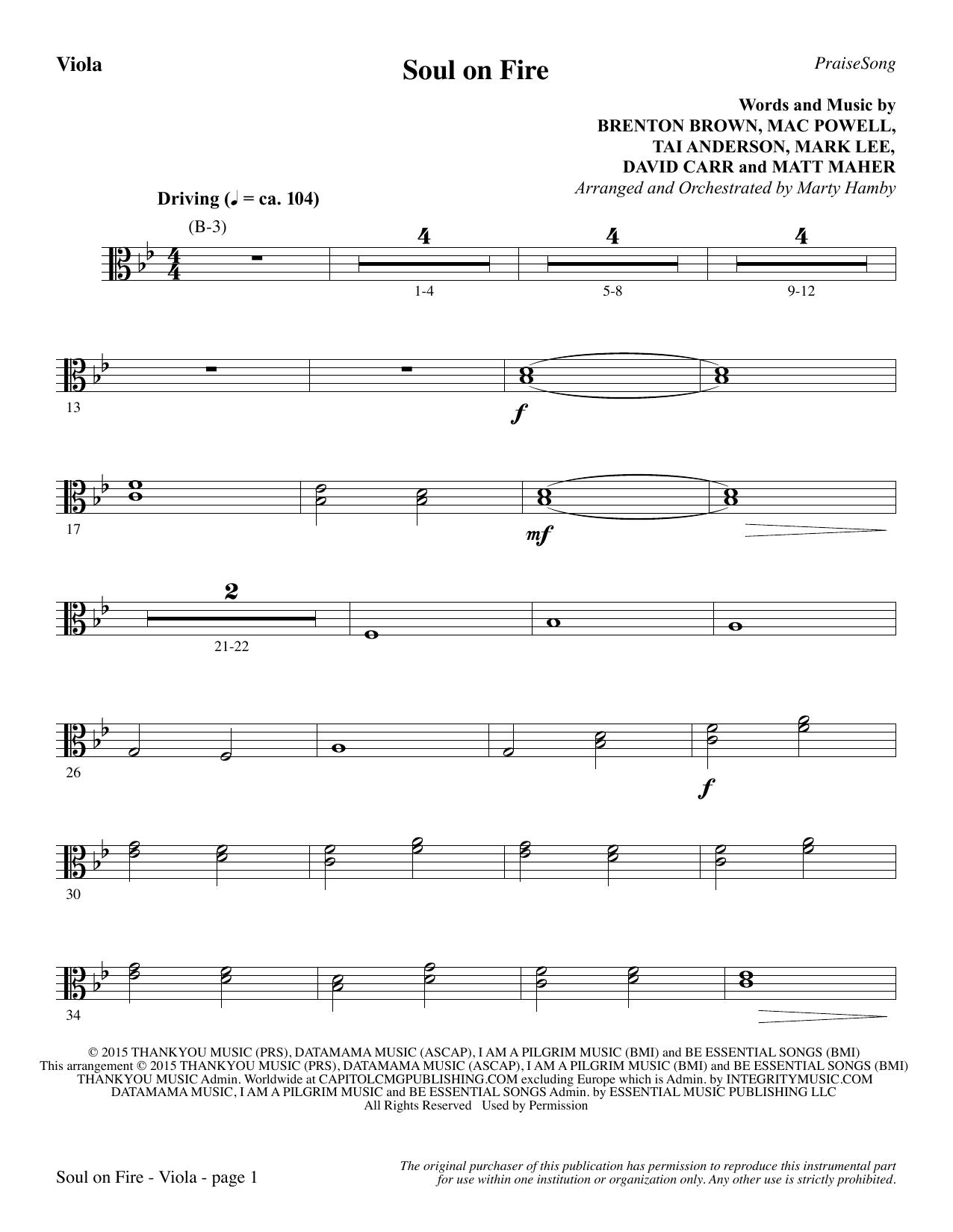 Soul on Fire - Viola (Choir Instrumental Pak)