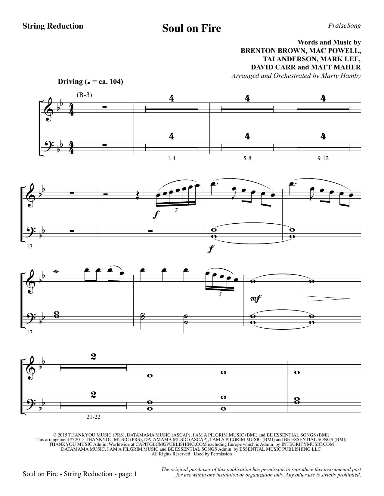 Soul on Fire - Keyboard String Reduction (Choir Instrumental Pak)