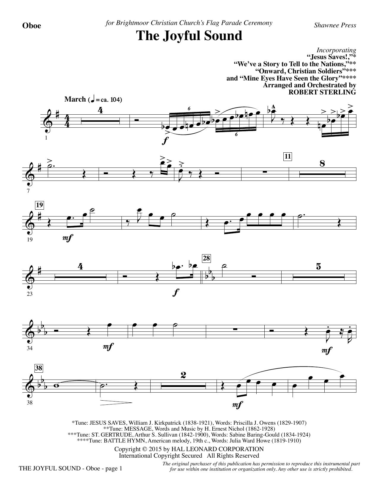 The Joyful Sound - Oboe Sheet Music