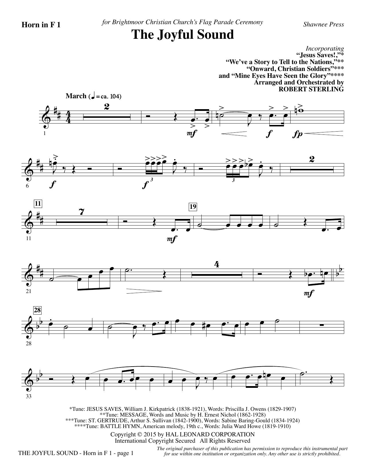 The Joyful Sound - F Horn 1 (Choir Instrumental Pak)