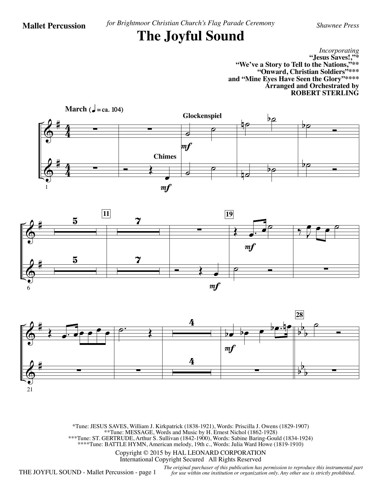 The Joyful Sound - Mallet Percussion (Choir Instrumental Pak)